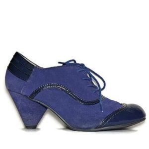 BC Footwear blue suede vintage inspired